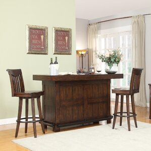 Complete Gettysburg Bar Table Set by ECI Furniture