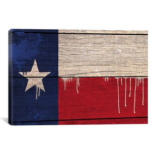 e09b65d404c Flags Texas Wood Planks with Paint Drips Graphic Art on Wrapped Canvas