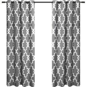 britain geometric blackout curtain panels set of 2