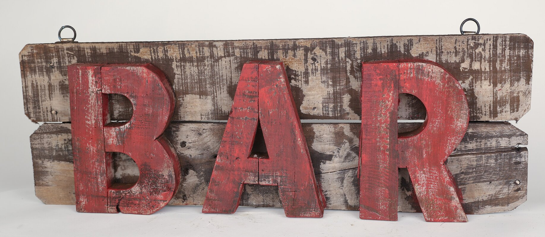 Rustic Wooden Bar Sign Wall Decor