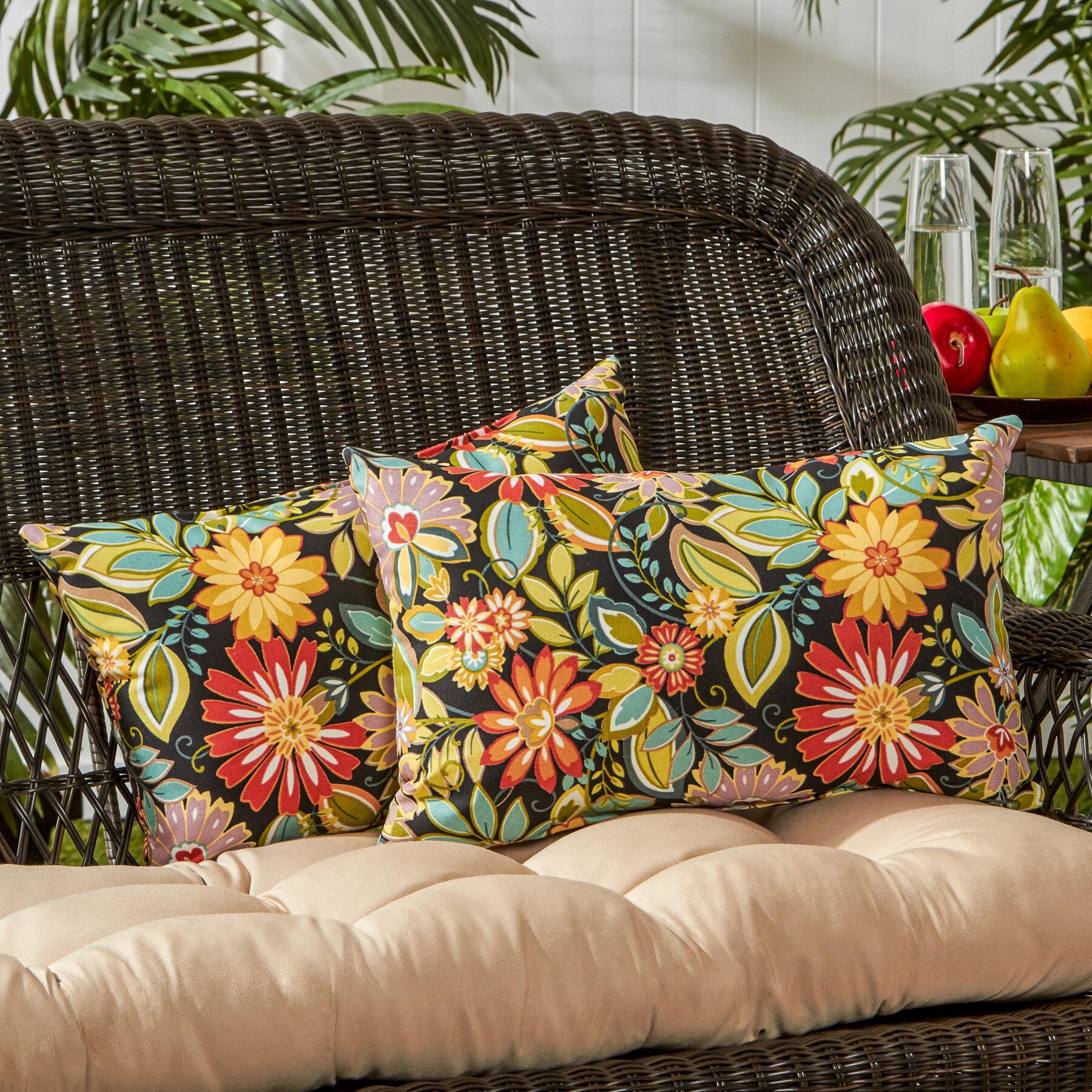 Greendale Home Fashions Outdoor Lumbar Pillow Reviews Wayfair