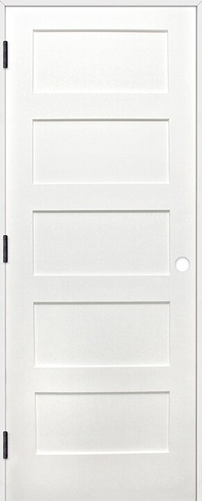 Shaker 5 Panel Solid Panelled Wood Prehung Interior Swinging Door