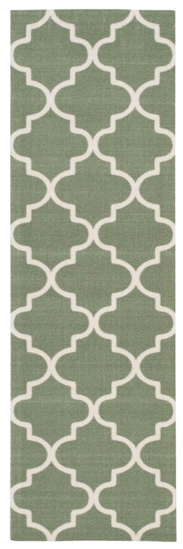 Waverly Sun n\' Shade Moss Indoor/Outdoor Runner Rug & Reviews ...