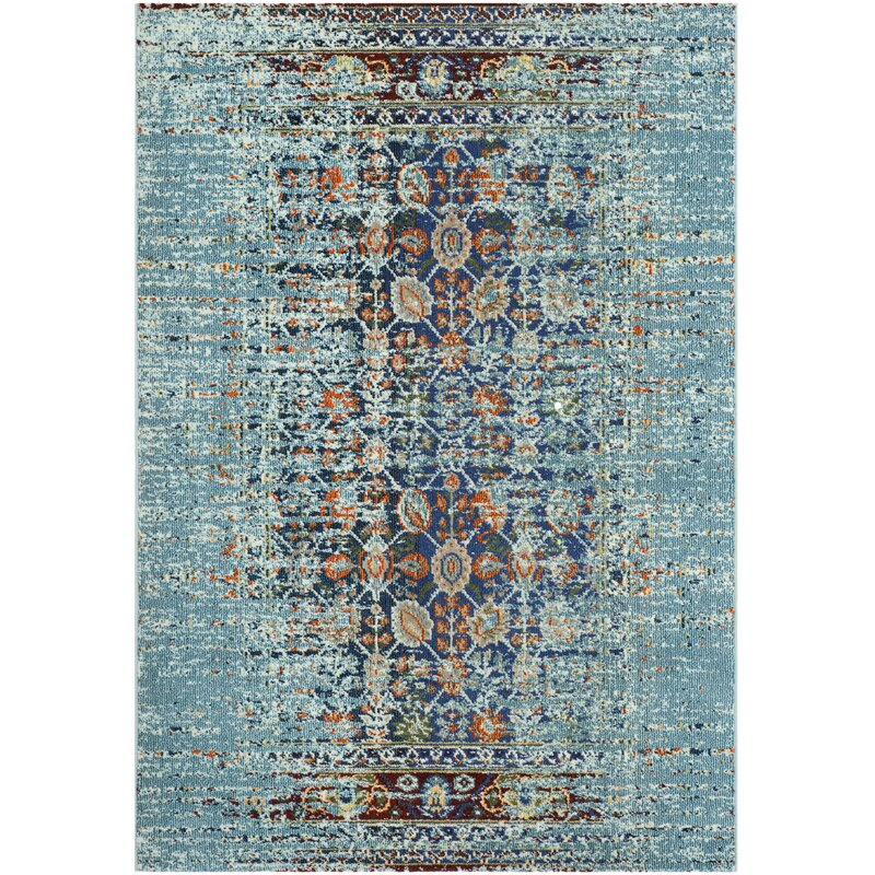 Mercury Row Borowski Blue Area Rug Amp Reviews Wayfair