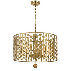Charlesworth 6-Light Drum Metal Chandelier