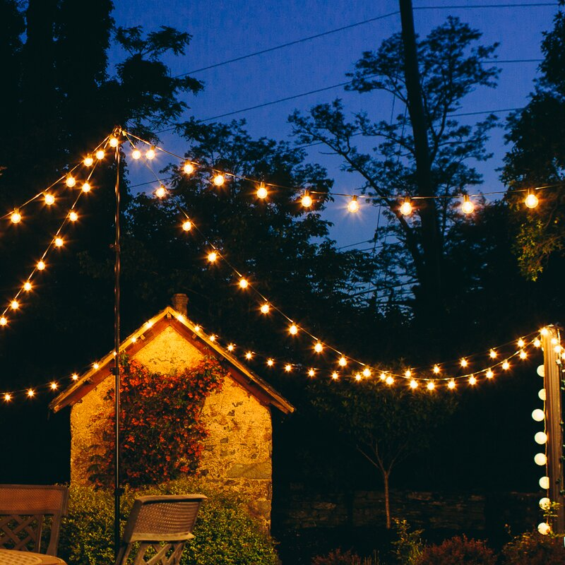 100 light globe string lights