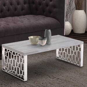 Ava Stainless Steel Coffee Table by Willa Ar..