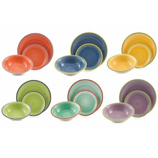 Rio 18 Piece Dinnerware Set Service For 6