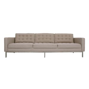 Draper Linen Modern Contemporary Button Tufted Sofa by Chic Home