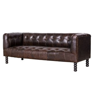 Richardson Leather Chesterfield Sofa by Wildon Home ?