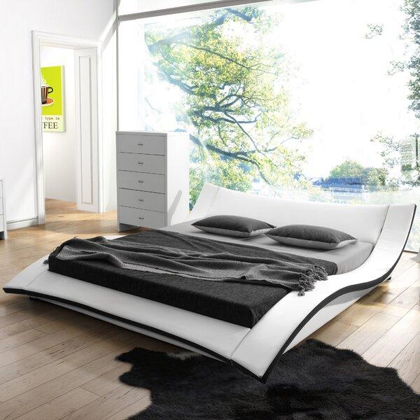 Wade Logan Damen Upholstered Platform Bed & Reviews | Wayfair