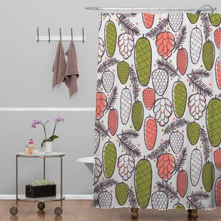 Pine Cottage Retro Shower Curtain