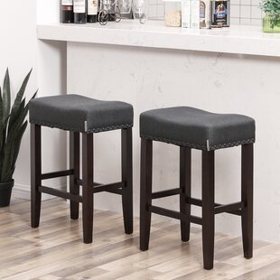 Adona Well-Padded 26.4 Bar Stool (Set of 2)