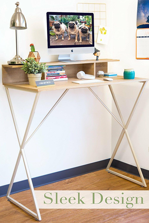 Brayden Studio Dreiling Standing Desk With Storage Cubbies Reviews Wayfair