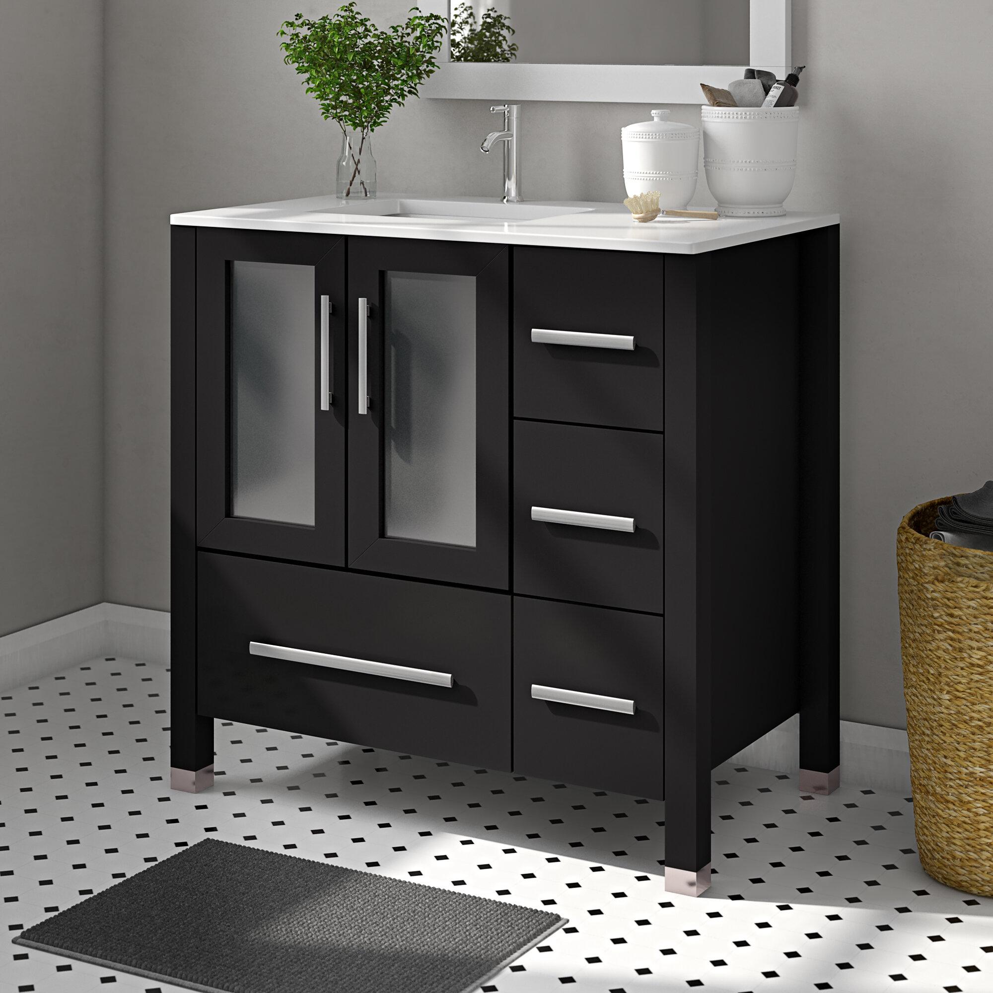 Miraculous Nadeau Modern Left Side 36 Single Bathroom Vanity Set Download Free Architecture Designs Boapuretrmadebymaigaardcom