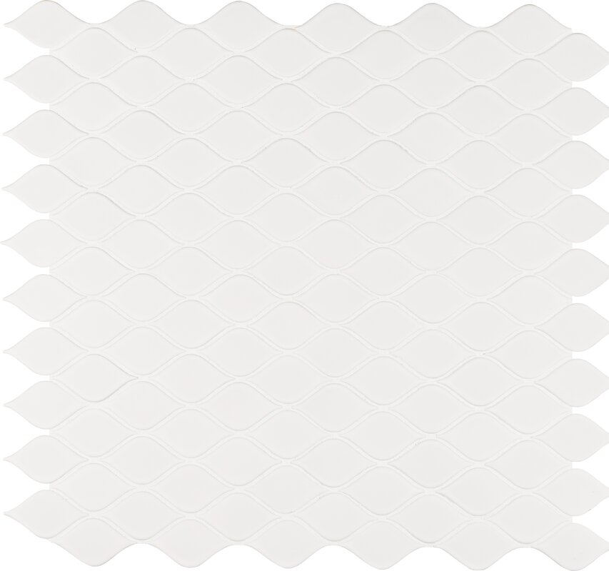 Tear Drop Porcelain Mosaic Tile in White. MSI Tear Drop Porcelain Mosaic Tile in White   Reviews   Wayfair