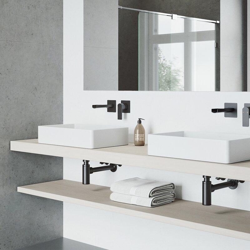 VIGO Atticus Wall Mounted Bathroom Faucet | Wayfair