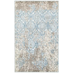 Fayme Abstract Blue/Beige Area Rug