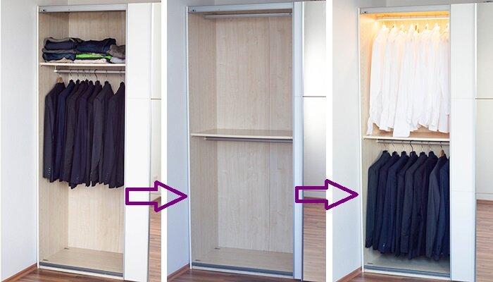 Expertentipp: Mehr Platz & Licht im Kleiderschrank | Wayfair.de