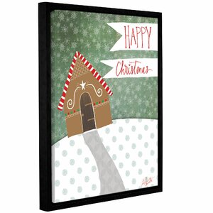 Happy Christmas Framed Graphic Art on Wrapped Canvas