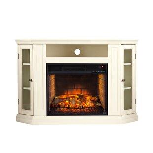 White Corner Fireplaces You\'ll Love   Wayfair