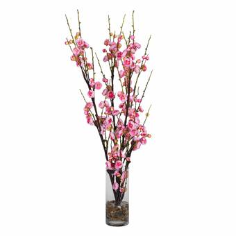 cherry blossom floral arrangements and centerpieces in vase