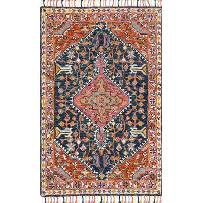 Jovany Hand Hooked Wool Pink Area Rug Reviews Allmodern