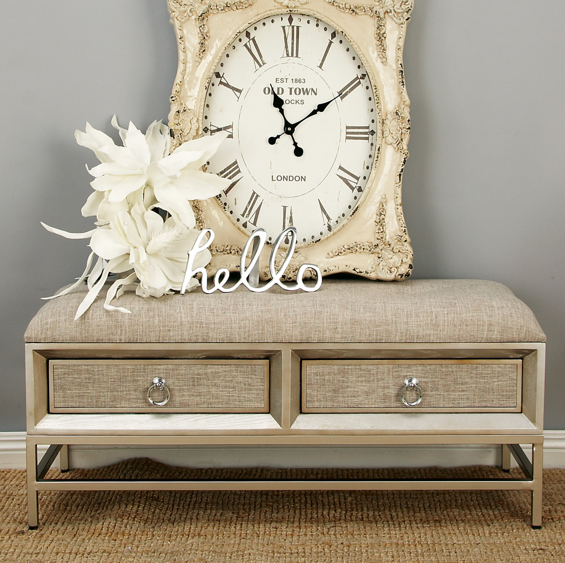 Cole & Grey Metal and Wood Storage Bench & Reviews