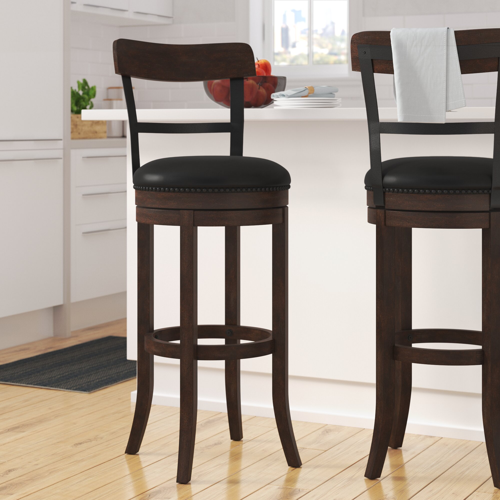 Darby Home Co Carondelet 30 Swivel Bar Stool Reviews Wayfair