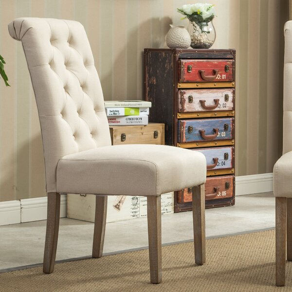 Free Kitchen Tufted Dining Bench With Back Ideas With: Bungalow Rose Kenleigh Solid Wood Button Tufted Side Chair