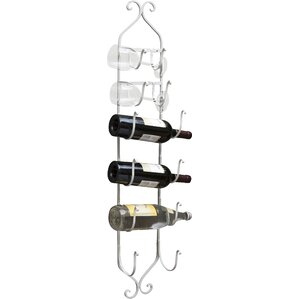 Saxatile 6 Bottle Wall Mounted Wine Ra..