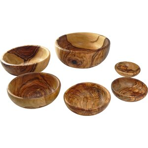 Olive Wood 6 Piece Nesting Bowl Set