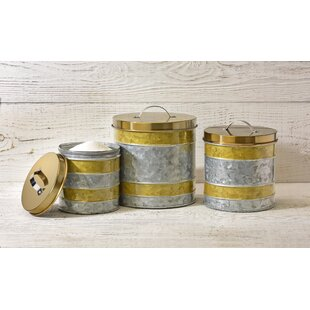 Attrayant Galvanized Kitchen Canister Set (Set Of 3)