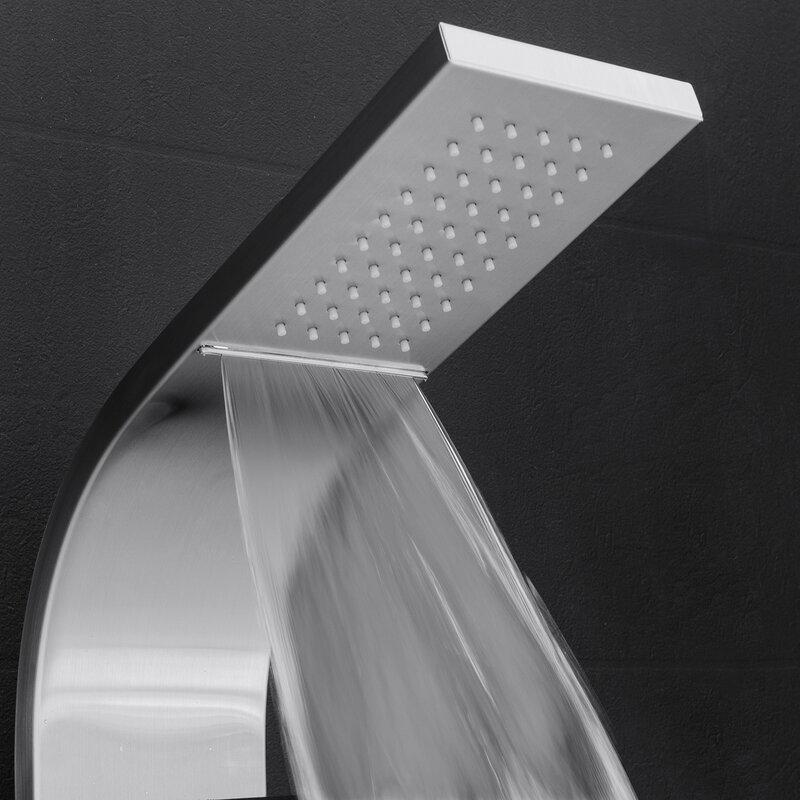 Temperature Control Rain Shower Head Shower Panel   Includes Rough In Valve