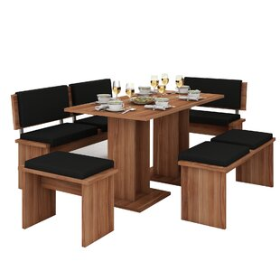 Clarendon 5 Piece Breakfast Nook Dining Set