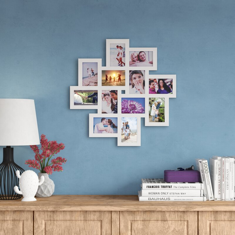 Zipcode Design 12 Opening Wood Photo Collage Wall Hanging Picture