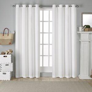 Wardsboro Solid Light Filtering  Grommet Curtain Panels (Set of 2)
