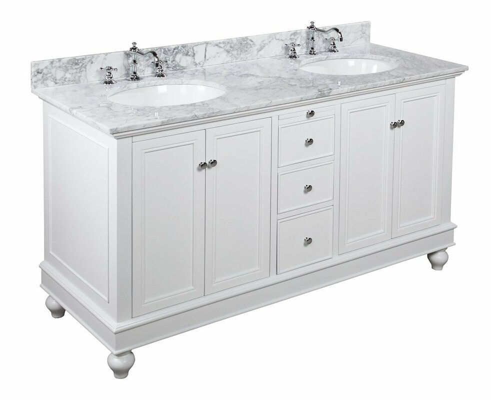 white vanity double sink.  Double Vanities You ll Love Wayfair