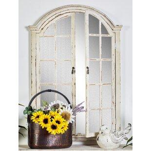 Wood Door Wall Mirror Cabinet