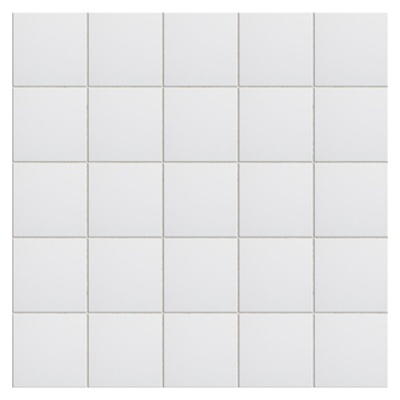 WS Tiles Value X Ceramic Tile In White Reviews Wayfair - 6x6 black floor tile
