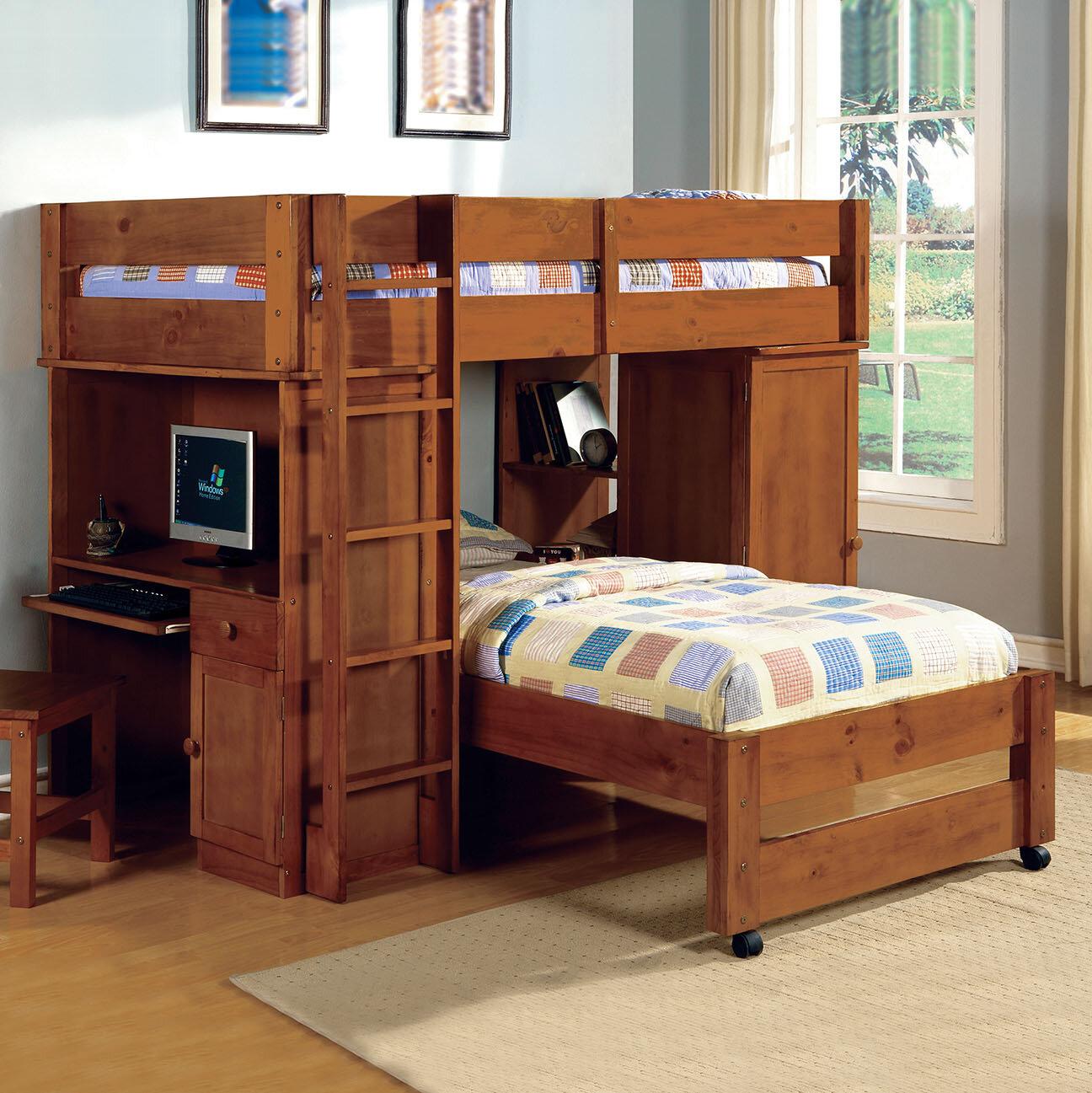 Harriet Bee Aldana Twin Over Twin L Shaped Bunk Bed Wayfair