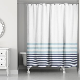 Coral And Blue Shower Curtain