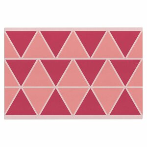 'Coral Peach Triangles' Doormat