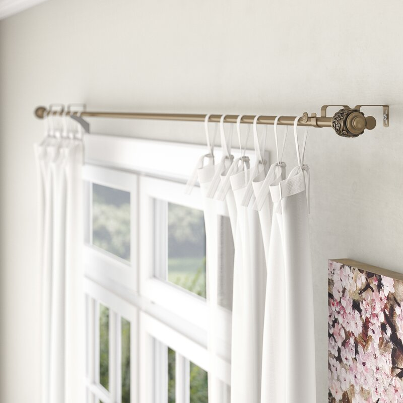 Lark Manor Lamarre Double Curtain Rod And Hardware Set Reviews