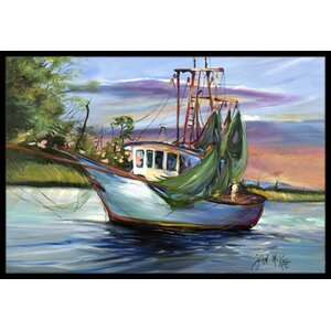 Jeannie Shrimp Boat Doormat
