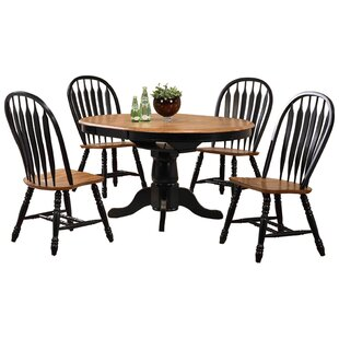 Florentia 5 Piece Extendable Solid Wood Dining Set