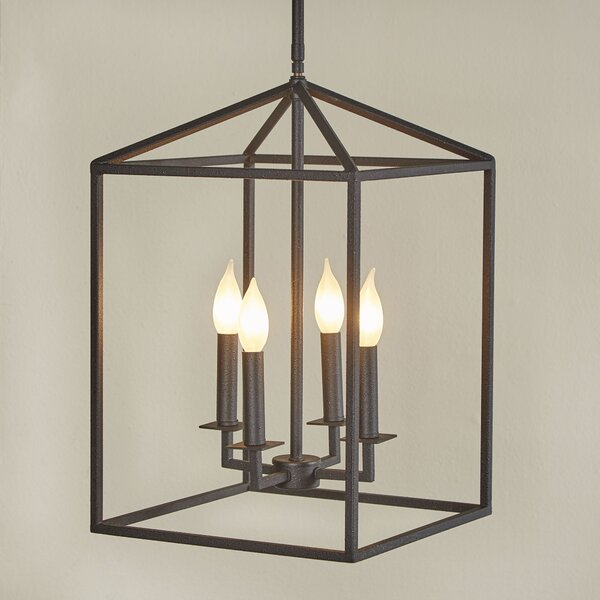 Farmhouse Entryway Chandelier: Laurel Foundry Modern Farmhouse Odie 4-Light Foyer Pendant