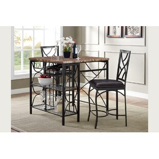 Vaughan Kitchen 3 Piece Breakfast Nook Dining Set #2