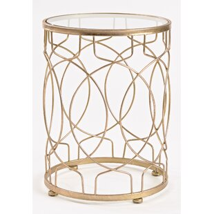 Brass Glass End Side Tables You Ll Love Wayfair