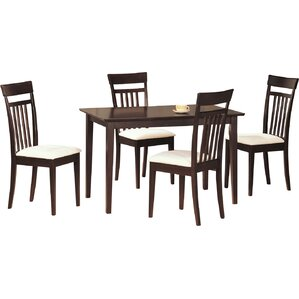 Bradwood 5 Piece Dining Set by Red Barrel..